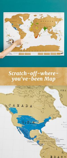 "Scratch off the areas you've visited to reveal adventurous pops of color that turn traveling into a ""domestic"" treasure hunt of on-the-fly geography lessons."