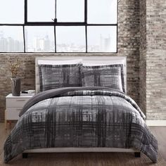 Shop for Camden Grey Plaid Reversible Comforter Set. Get free shipping at Overstock.com - Your Online Fashion Bedding Outlet Store! Get 5% in rewards with Club O!