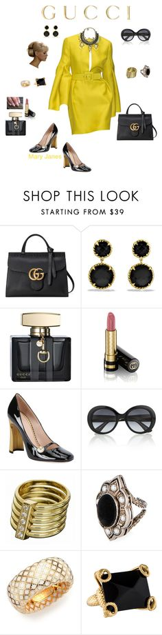 """Gucci 2013 dress"" by deborah-518 ❤ liked on Polyvore featuring Gucci and David Yurman"