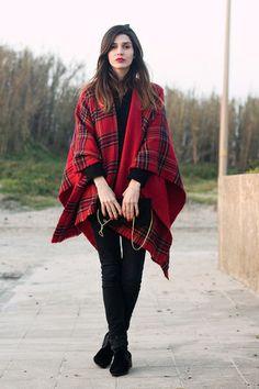 Tartan Zara cape