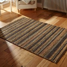 Jute Rugs can be used around the home but are popular choices for conservatories, kitchen/dining areas and hallways. Choose from three rectangular sizes with a matching carpet runner. #DesignerHomes #Jute #JuteRugs