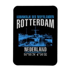 Rotterdam Magnet - retro gifts style cyo diy special idea