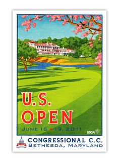 2011 U.S. Open Poster by Lee Wybranski at USGAshop.com