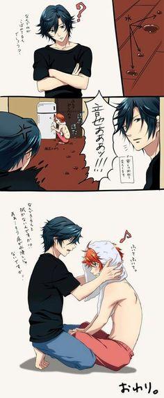 UtaPri ~~ Roommates need love, especially the exhausted ones :: Tokiya and Otoya