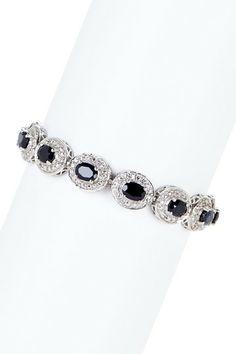 Black & White Sapphire Bracelet