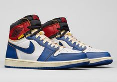 buy popular 6ab36 ba5db Union x Air Jordan 1 Retro High OG NRG Color  White Storm Blue-