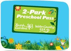 #Two #Park #Preschool #Pass: #Busch #Gardens® #Williamsburg and #Water #Country #USA®