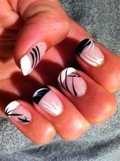 Black and White Nail Design 2014