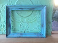 Shabby Chic Aqua Distressed Frame by SassySouthernCharm
