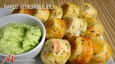 Baked Vegetable Idli (Delicious Indian Appetizer) Recipe by Manjula Indian Appetizers, Indian Snacks, Yummy Appetizers, Indian Food Recipes, Appetizer Recipes, Ethnic Recipes, Vegan Recipes Videos, Cooking Recipes, Rice Recipes