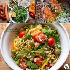 KROUPOVÝ SALÁT SE ZELENINOU Ethnic Recipes, Food, Diet, Essen, Meals, Yemek, Eten
