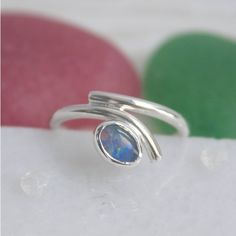Caroline Brook Opal Ring, Silver And October Birthstone (5,325 THB) ❤ liked on Polyvore featuring jewelry, rings, opal birthstone jewelry, opal birthstone rings, silver opal ring, silver jewelry and opal rings