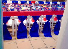 Spiderman themed party decorations