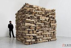 "Hu Qingyan, ""Firewood"", 2012; © Hu Qingyan Courtesy Galerie Urs Meile camphorwood. galerieursmeile.com"