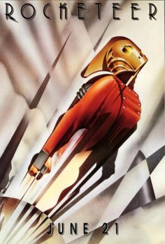 I remember seeing this when I was a child, but I never watched it. The art deco design is so clean and simple, yet bold and forward.  Poster from The Rocketeer (1991). -DC2