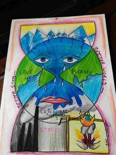 On Water Conservation Nayak Miti Bhadreshkumar Little - Water Conservation Drawing Save Water Drawing, Save Earth Drawing, Drawing For Kids, Global Warming Drawing, Global Warming Poster, Save Environment Posters, Environment Painting, Diwali Festival Drawing, Save Earth Posters