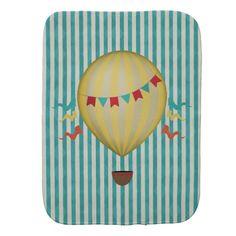 Vintage Hot Air Balloon Burp Cloth
