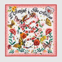 Gucci Garden exclusive silk scarf