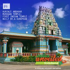 The Kurinji Andavar Murugan temple was built in 1936 by a European lady who converted to Hinduism after marrying Mr. Ponnambalam Ramanathan. She is popularly known as 'Lady Ramanathan', and the temple is known for the beautiful Kurinji flowers which blossom in intervals of 12 years.   To download and read more India Unveiled stories, visit www.indiaunveiled.org