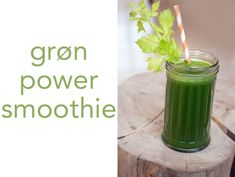 groen-sund-smoothie Power Smoothie, Juice Smoothie, Fett, Celery, Beverages, Brunch, Vegetables, Juice Recipes, Juices