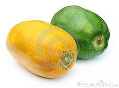 Two papayas