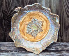Bowl, unique, natural, wall art, home decor by PitterPotterPottery on Etsy