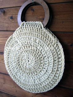 Crochet Bag (Abruzzo Wool) make each round a different and just black and white with flowers