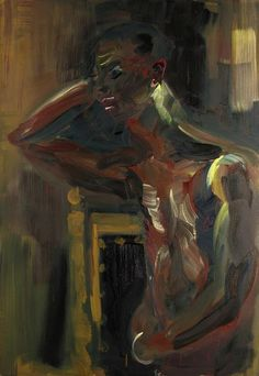 Rainer Fetting (German, b. 1949), André, 1988. Oil on canvas, 125 x 85 cm.
