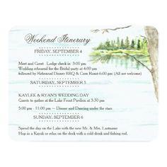 #Lake Wedding Itinerary Card - #weddinginvitations #wedding #invitations #party #card #cards #invitation #summer