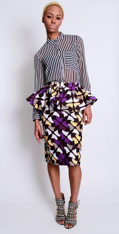 El sesgo de Kait corta falda de Peplum por DemestiksNewYork en Etsy, $95.00
