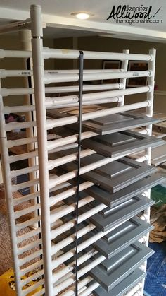 Cabinet Door Drying Rack Classy Diy Cabinet Door Drying Rack From Pvc Pipe & 2X4 Lumber Wood Review