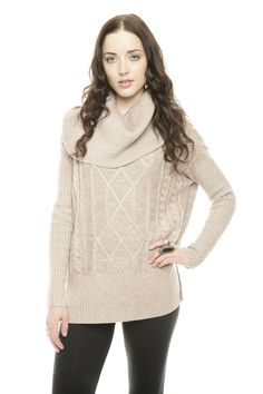 cowl sweater, perfect for this weather!