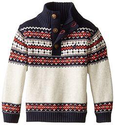 Nautica Baby Boys' Button Neck Sweater with Fairisle Pattern, Sport Navy, 18 Months Nautica http://www.amazon.com/dp/B00WC03ZK8/ref=cm_sw_r_pi_dp_xJWcwb0ANM6K8