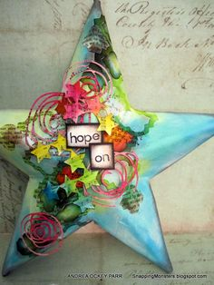 Andrea decorated this cool 3D star for the Simon Says Stamp Monday Challenge!