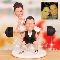 bodybuilding wedding cake toppers | ... Cake Toppers / Groom in Squatting Position Toppers / Powerlifting Cake  @John Lauro this will be us