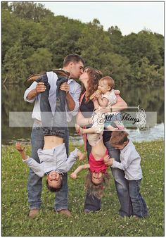 I love this for a family photo.......so much more true to life than a boring posed picture. :)