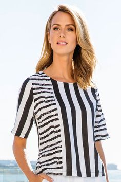 Buy Yarra Trail Spliced Print Blouse online | Shop The Brand Store