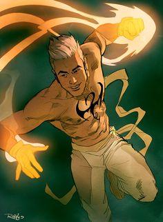 Iron Fist (Daniel Rand) Hero for Hire, Avenger Marvel Comics Luke Cage, Marvel Comics Art, Marvel Heroes, Ms Marvel, Captain Marvel, Marvel Comic Character, Marvel Characters, Comic Books Art, Comic Art