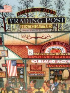 Charles Wysocki 1993 Timberline Jacks Trading Post Plate Frontier Series No. 1