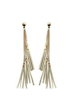Long Tassel Pendant Earrings