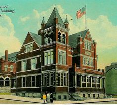 Stevens Elementary School at Tenth and Willow Streets, now Stevens Tower.