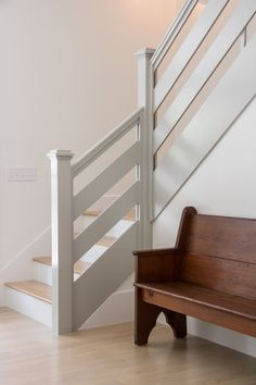 Rustic Staircase, Wood Stairs, House Stairs, Stair Railing Design, Staircase Makeover, Hallway Designs, Sleeping Loft, Room Decor Bedroom, Home Renovation