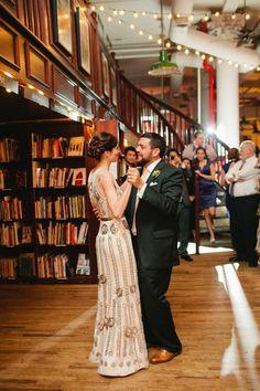 Photography: Shannen Norman - shannennatasha.com  Read More: http://www.stylemepretty.com/2015/01/08/fairytale-ending-nyc-bookshop-wedding/