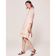 Blush colored crepe dress, timeless for weddings etc
