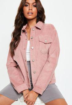 Two Piece Sets - Two Piece Dresses, Co-ords & Outfits Pink Corduroy Jacket, Pink Denim Jacket, Denim Shirt Dress, Denim Outfit, Double Denim, Two Piece Dress, Denim Fashion, Blush Pink, Dusty Pink