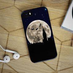 Peter Pan Flying to the Moon - iPhone 4, iPhone 5 5S 5C, iPhone 6 Case, plus Samsung Galaxy S4 S5 S6 Edge Cases - Shadeyou Phone Cases