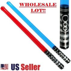 Light Saber Star Wars Look Blow Up Red & Blue Toy Sword New (WHOLESALE BULK LOT) #Unbranded