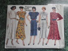 Vogue Basic Design Sewing Pattern 1717 Size 8-10-12 Dresses by WeBGlass on Etsy