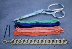 DIY: el collar trenzado de Carolina