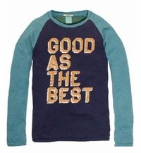 Scotch & Soda Shrunk Colorblock Tee With Text